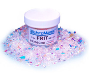 Dichroic Frit - 96 COE Uroboros Clear coated with DichroMagic standard colors