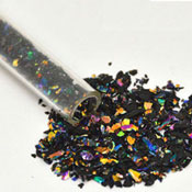 Black Rainbow Dichroic Glass Frit Flakes System 96