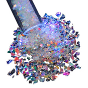 Clear Rainbow Dichroic Glass Frit Flakes 90 COE