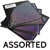 Quarter Sheet Assorted Experimental Patterned Dichroic on Thin Black 96 COE