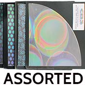 Quarter Sheet Assorted Experimental Patterned Dichroic on Thin Clear 90 COE