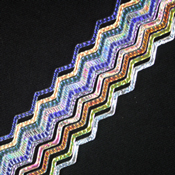 Taste of Texture Dichroic on 3 mm Clear Firestrip 90 COE 16 in. long