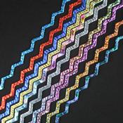 Taste of Texture Dichroic on 6 mm Black Firestrip 96 COE 16 in. long