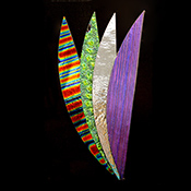 Fan Pack - 10 in. Assorted Dichroic Texture and Coating on Black 96 COE