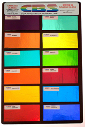 Crinklized System 96 Dichroic Primary Colors Pack on Clear