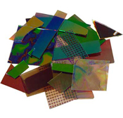 Crinklized Dichroic on 1.5mm thin Clear System 96 1/2-lb Scrap