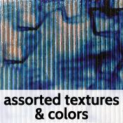 4 x 4 in. Dichroic Piece on Textured Wissmach 96 COE