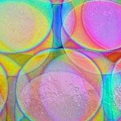 Thin Black - Balloons 3 Pattern on Mixture Dichroic 90 COE
