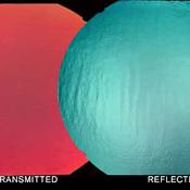 Thin Clear - Red / Silver / Blue Dichroic 90 COE