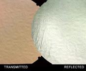 Wissmach Florentine texture Thin Black - Red / Silver Dichroic 90 COE