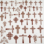 Christian Glass Accents 22k low-fire decals