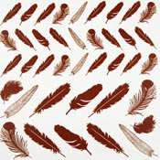 Feathers Glass Accents 22k low-fire decals