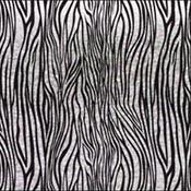 Red/Silver Zebra on Black 96 COE 4 x 4 in.