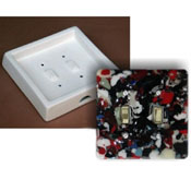 Toggle Double Switch Plate - 6 x 6 x 1.5 in.