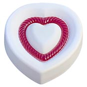 Fluted Heart Mold - 5.5 x 4.5 x 1.25 in.