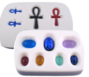 Scarabs and Ankhs Casting Mold - 6.875 x 4.5.in.