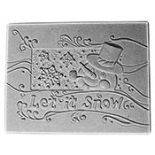 """Snow Texture Tile- 8 x 6.5"""""""