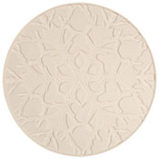 Round Snowflake Texture Tile - 11 in.