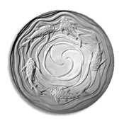 Koi Waves Texture Mold - 13 in.
