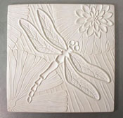 Dragonfly Square Texture Mold - 10.25 in.