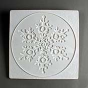 Snowflake in Square Texture Tile - 10 in.