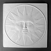 Sun Square Texture Mold - 10 in.