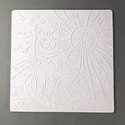 Cat Texture Tile - 10 in. x 10 in.