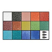 Glassline Champagne Bubble Paint Kit- 14 colors & 3 tips
