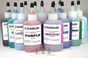 Glassline Glacial Paint Set with 3 Tips and one each of 14 colors