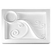 Spiral Appetizer Tray Mold - 12.5 x 10 in.