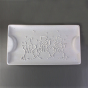 Snowman Tray Mold - 7.5 x 13.5 x 1.5 in.
