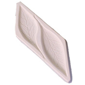 Leaf Frit Cast Mold - 10 x 3 in.
