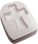 Cross  Glass Casting Mold - 6 x 4.75 in.