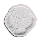 Pansy Frit Cast Mold 8 x 1.5 in