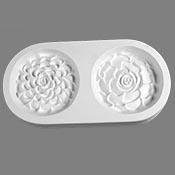 Two Succulents Frit Casting Mold - 10 x 5 in.