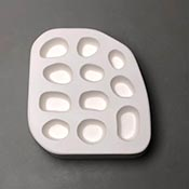 Small River Rocks Frit Casting Mold - 6 x 6.5 in.