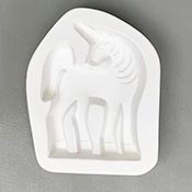 Unicorn Frit Casting Mold for Stand-Up - 5.5 x 4.5 in.