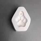Holey Paw Frit Casting Mold - 3.75 x 3 in.