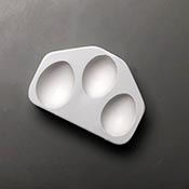 Hen Eggs Frit Casting Mold - 3.75 x 6 in.