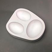 3 Large Eggs Frit Casting Mold - 5.5 x 6.75 in.