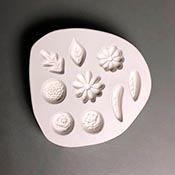 Small Flowers and Leaves Frit Casting Mold - 5.5 x 6 in.