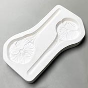 Pansy & Hibiscus Stakes Frit Casting Mold - 11 x 6 in.
