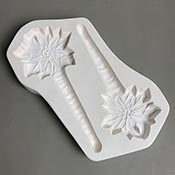 Poinsettia Ornament/Stakes Mold - 11.25 x 6.25