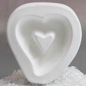 Holey Hollow Heart Mold - 3.625 x 3.25 in.