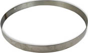 12 in Round Stainless Steel Ring Mold (1 in. tall - use with FUS SM12)
