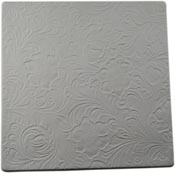 Tooled Leather Ceramic Texture Mold- 7 x 7 in. tile