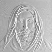 Jesus Square Texture Mold - 8.5 in.