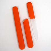 "Orange Nail File - ""InCase"" Design"