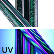 Dichro Ibiza Tube (UV) (sold by the pound, 1/4 lb. minimum)