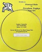 Replacement Blade for Gryphon Zephyr Saw (Fine Diamond)